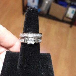 White sapphire ring set💎